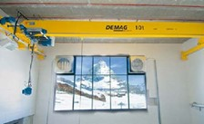 Demag Electric Rope Hoist Snowmaking Operation