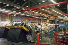 DEMAG KBK Crane handles large panels in Automotive Plant