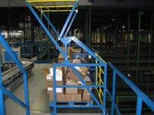 Mezzanine Pallet Access Gate Ensures OSHA & ANSI Compliance while Accommodating Tall Pallet Loads