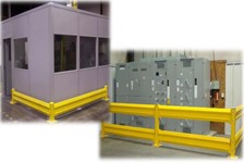 Single and Double High Guardrail Application Used in a Distribution Company