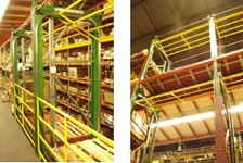 PICKING AREAS IN A HIGH BAY RACK PICKING MODULE SECURED BY RACK-SUPORTED DUAL-GATE SYSTEMS