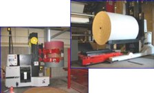 Automatic Guided Vehicle System Transports Newspaper Print Reels
