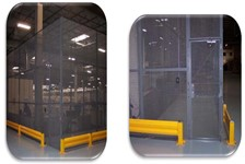Specially Designed Wire Mesh Enclosure Elevates Security within a Distribution Center