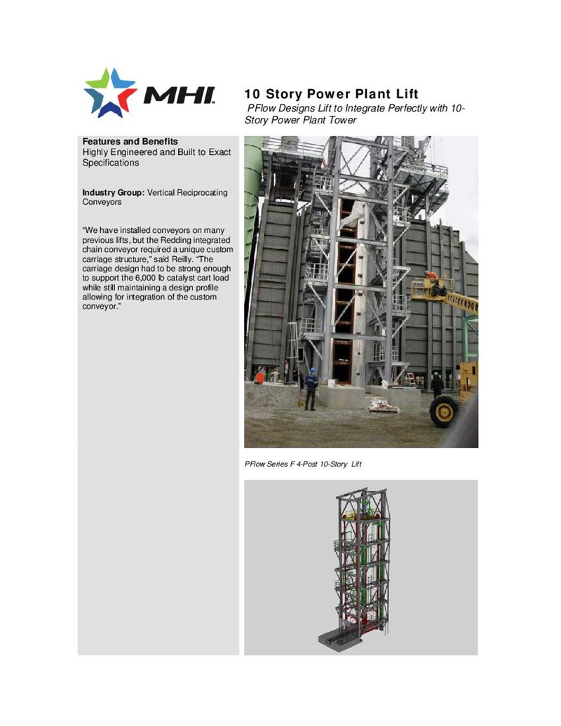 10 Story Power Plant Lift