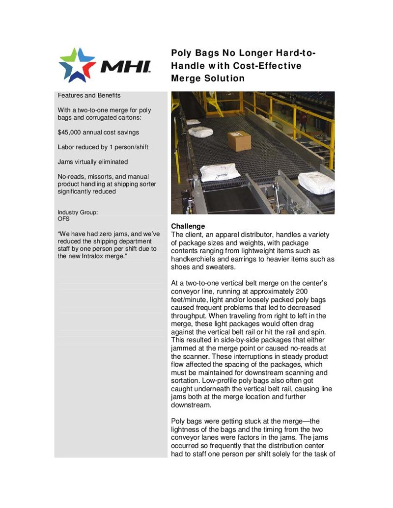 Poly Bags No Longer Hard-to-Handle with Cost-Effective Merge Solution