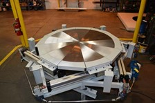 Custom Work Platform with Circular Opening for Jet Engine Assembly