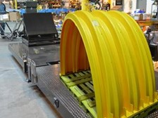 Dual Hinge Tilter for Stacking and Loading Infiltration System Chambers