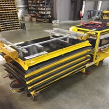 Series 35 Scissor Lift Mounts to Automatic Guided Vehicle for Seeding Process