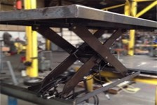 High Cycle Scissor Lift Keeps Ornamental Fence Production on Schedule