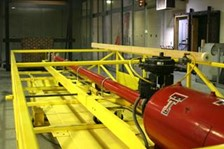 Extra Wide Dual Cylinder Scissor Lift For Debris Impact Testing