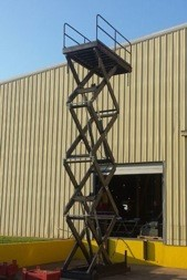 Quad High Scissor Lift for Texas A&M Kyle Field Stadium