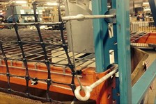 Installation of RackGuard Pallet Rack Safety Netting Off-Set From Cross Beams Using Eye-Bolts