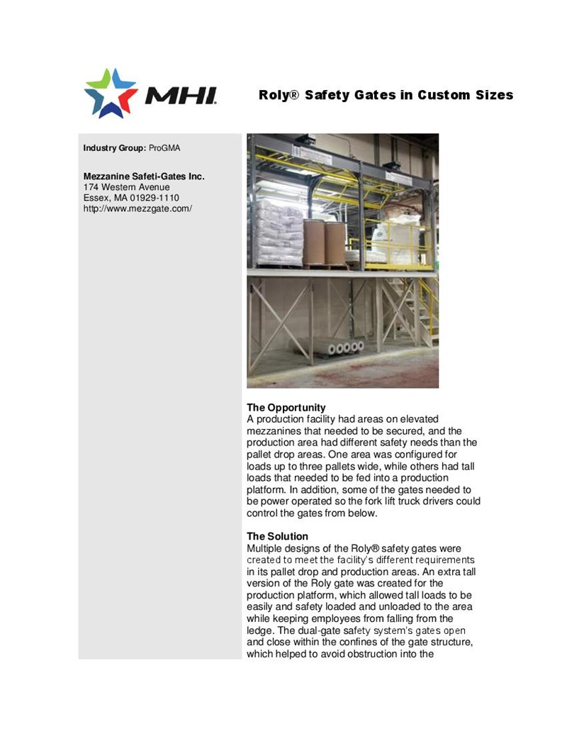 Roly® Safety Gates in Custom Sizes