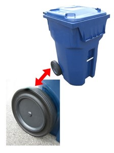 Residential Waste Container Wheels