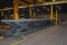 Giant Platform Lift Integrates with Conveyor System for HVAC Manufacturer