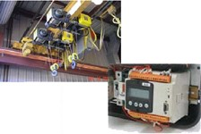 R&M Electric Wire Rope Hoist in a Special Dual Hoist Application