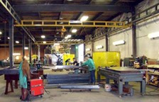 SPANCO Workstation Bridge Crane Provides Ergonomic Solution for Metal Fabrication Facility