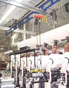 Work Station Crane Helps Commercial Printer Increase Safety And Decrease Product Damage