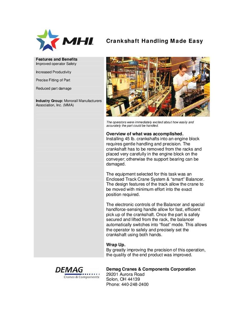 Crankshaft Handling Made Easy