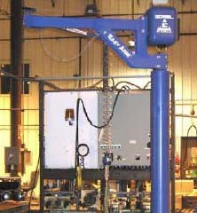 Easy Arm™ Intelligent Lifting Device In Action: Precision Placement Protects Pumps on Test Stand