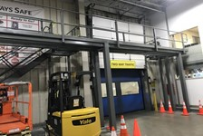 Wildeck Mezzanine Reduces Facility Floor Congestion
