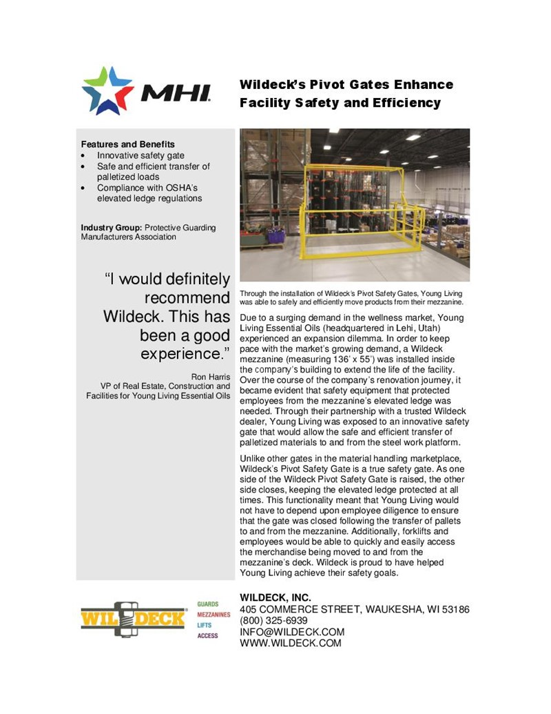 Wildeck's Pivot Gates Enhance Facility Safety and Efficiency