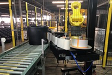 Automated Labeling of Tapered Bulk Feed Tubs