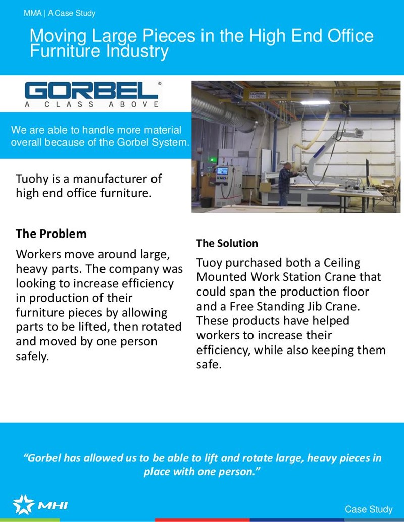 Moving Large Pieces in the High End Office Furniture Industry