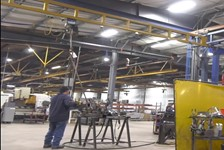 Increasing Efficiency by Adapting Existing Work Station Crane / Adding a GS Series Hoist