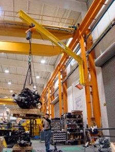 SPANCO Wall Mounted Jibs Provide Lifting Supplement for Leading Manufacturer of Mobile Cranes