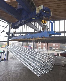 Demag Electric Rope Hoist In The Galvanizing Industry