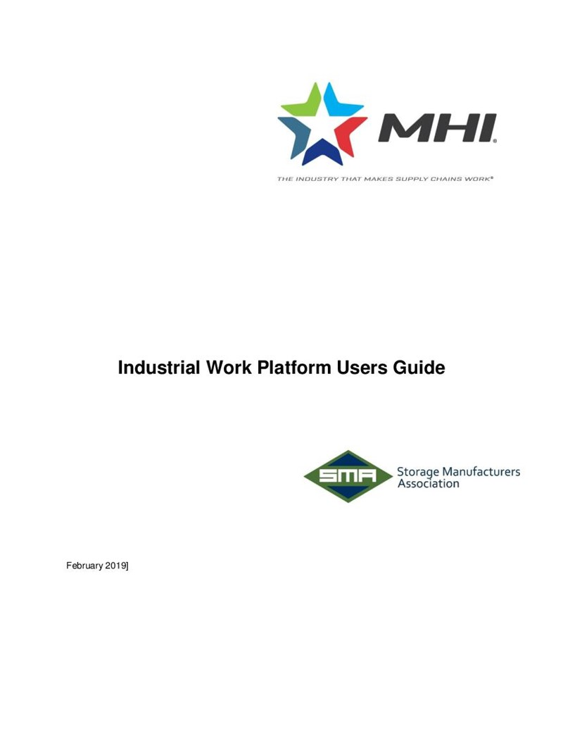 Industrial Work Platform Users Guide