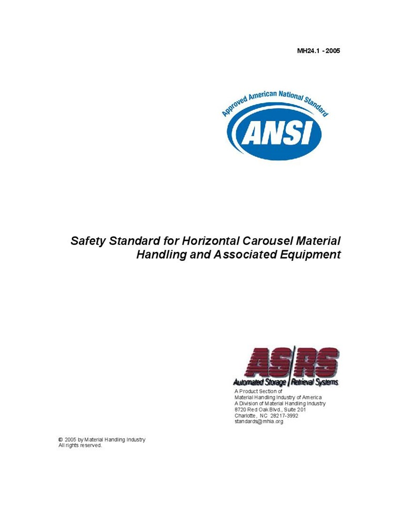 MH24.1 - 2005 - Safety Standard for Horizontal Carousel Material Handling and Associated Equipment
