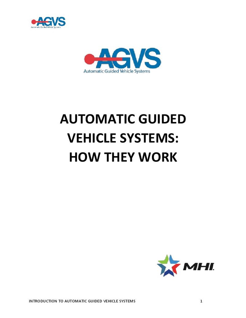 Automatic Guided Vehicle Systems: How They Work