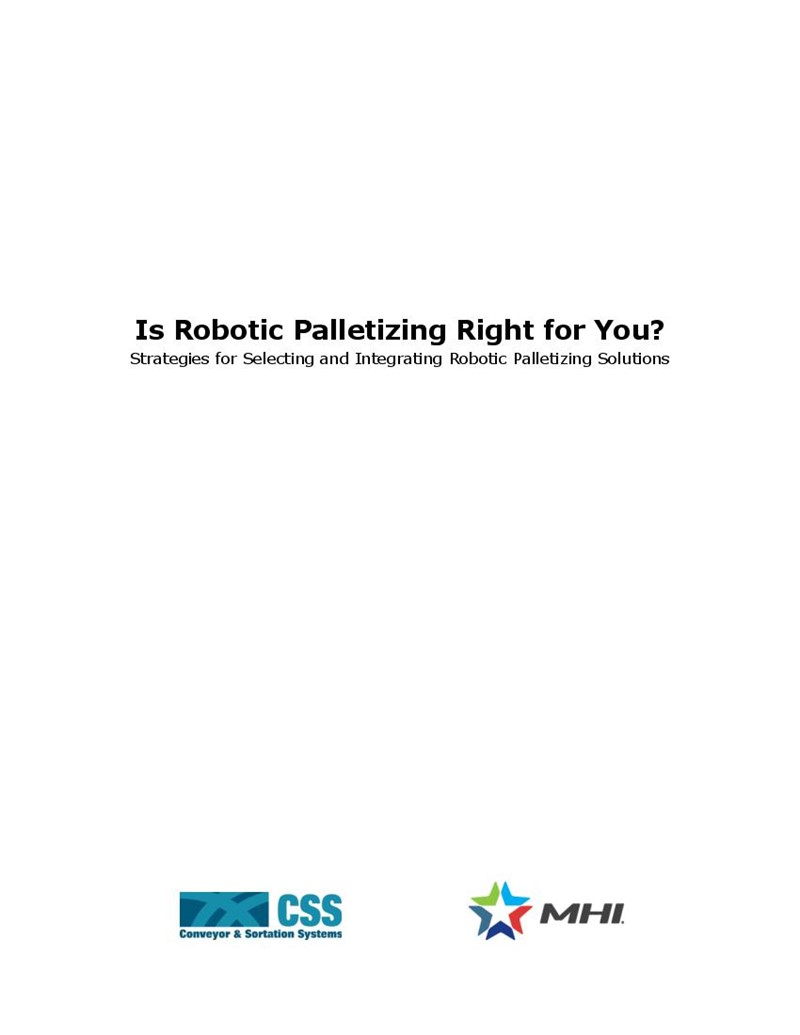 Is Robotic Palletizing Right for You?