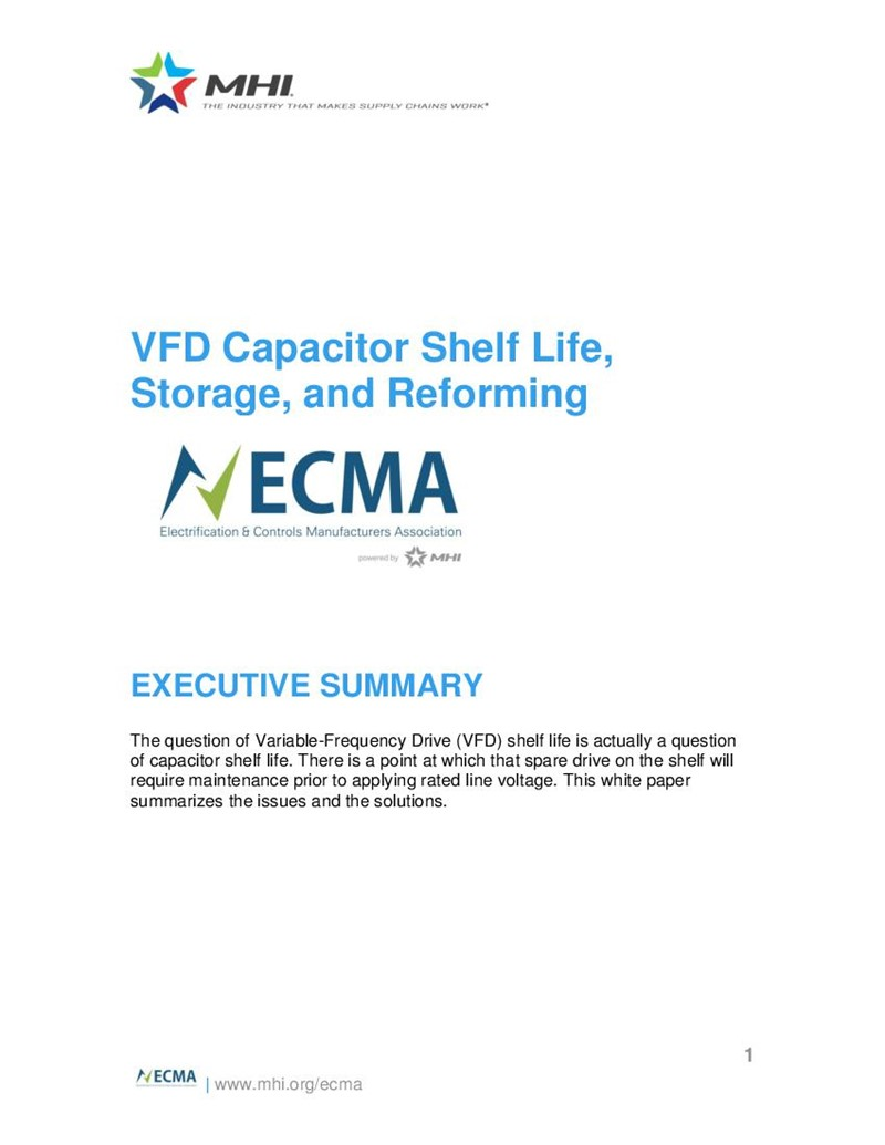 VFD Capacitor Shelf Life, Storage, and Reforming