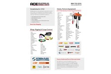 Ace Industries Line Card