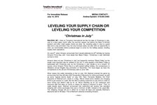 Leveling Your Supply Chain