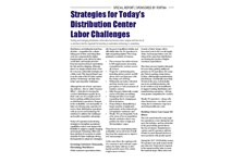 Strategies for Today's DC Labor Challenges
