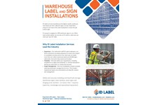 Warehouse Label and Sign Installation Services