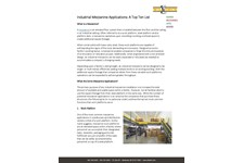 Industrial Mezzanine Applications: A Top Ten List