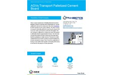 AGVs Automate Transport of Palletized Cement Board