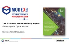 Keynote: Preview the 2020 MHI Annual Industry Report