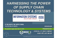 ISSG of MHI Presents: Harnessing the Power of Supply Chain Technology and Systems