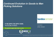Continued Evolution in Goods to Man Picking Solutions