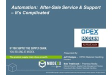 Automation: After-Sale Service and Support - It's Complicated