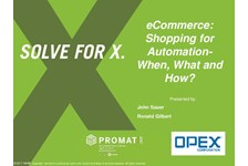 eCommerce: Shopping for Automation - When, What and How?