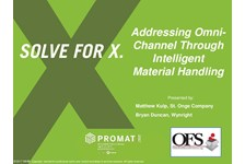 OFS of MHI Presents: Addressing Omni-Channel Through Intelligent Material Handling