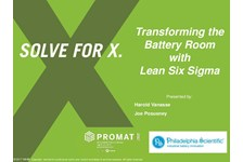 Transforming the Battery Room with Lean Six Sigma Processes and Tools