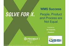 WMS Success: People, Product and Process are Not Equal